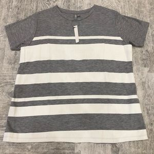 ASOS maternity stripe grey t-shirt small new